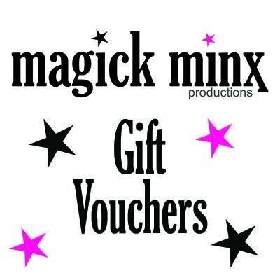 Vouchers on the magick minx website